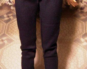 Navy blue high waisted pants for slim MSD dollfie, minifee, 1/4 bjd DOLL