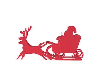 Santa Claus Place Cards set of 10 - Christmas,Escort Cards,Place Cards ,Wedding Place Card,Rustic Wedding,Christmas Tree,Holiday Wedding