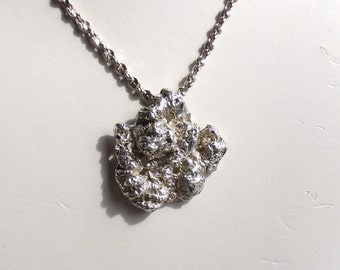 Sterling Silver Moonscape Moonrock Pendant Necklace