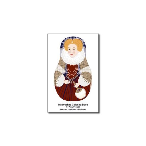 Matryoshkas (F) Mini Coloring Book Printable file