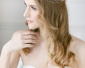 Bridal Hair Vine , Delicate Wedding Headband , Wedding Hair Accessory  , Pearl Headpiece, Hair Vine , Boho Hair Wreath