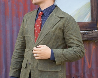 Waxed Cloth Blazers--Made to Measure---Editions36