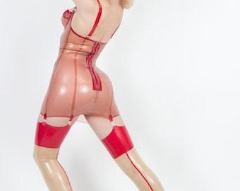 Latex Rumba Seamed Stockings Thigh Highs