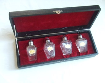 2 Sets Crystal Salt Pepper Shakers with Box