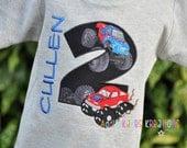 Personalized Monster Truck Kids Birthday Shirt