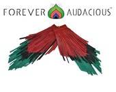 STRIPPED - RBG Edition Pan African Flag  (Genuine Leather Handcrafted Fringe Earrings)-FREE Gift w/ Purchase