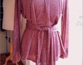 OOAK Drapy Mauve Tunic size Medium 8-10
