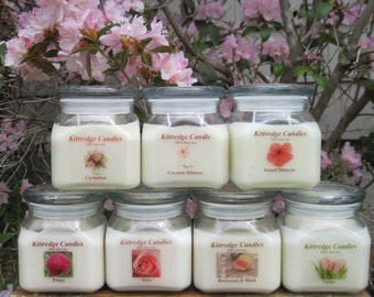 PINK FLOWER COLLECTION: One 10-oz Soy Jar Candle