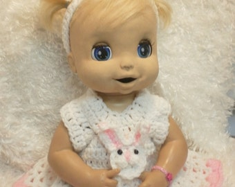 16-17  Inch Baby Alive Doll Clothes.Bunny Rabbit Dress Set
