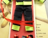 Firefighter Bookmark Featuring the Uniform, Fire Hat, Fire Truck, Stocking Stuffer, Zine, Birthday, Journeling