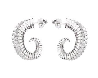 Ram's Horns earrings in Sterling Silver- Aires Earrings