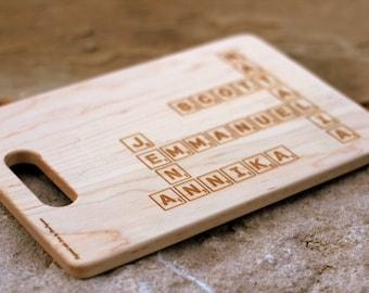 Scrabble Style Cutting Board