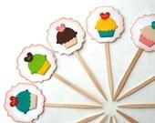 Heart Cupcake Sayings - Cupcake Toppers Food Picks