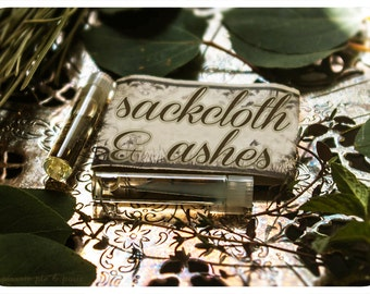 sackcloth and ashes - natural perfume oil mini sampler twin pack - primary notes: lavender and burned woods