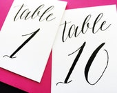 Table Numbers - Table Number Tents - Reception Table Number Tents
