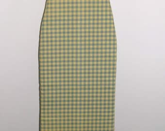 Ironing Board Cover, Waverly Blue and Yellow Gingham Check