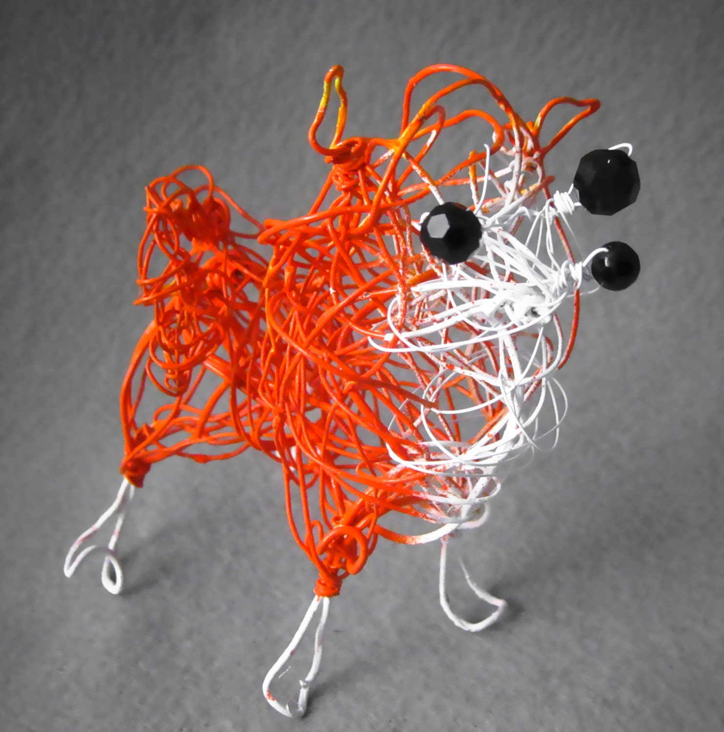 Pomeranian dog art gifts for pet owners toy dog metal dog for Dog wire art
