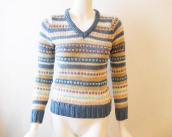VTG 80s Pastel Loose Knit Sweater