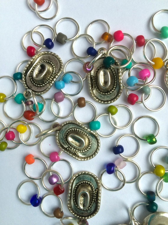 Knitting stitch markers/knitting/O-rings snag free RODEO