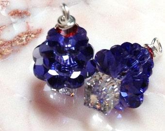 Purple Christmas Tree Earrings. Classy, Not Tacky. You Choose Ear Wire