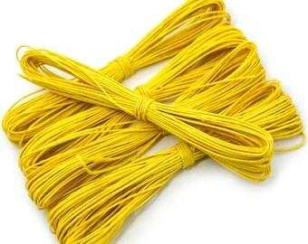 Yellow Hemp Twine, Craft Twine, 5 x 27 Feet Skeins,   Hemp String,  Scrapbooking  Twine -JC01