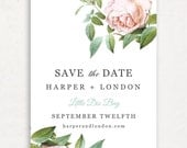 Printable Save the Date Template | INSTANT DOWNLOAD | Vintage Botanical | Word or Pages Mac & PC | 4.25x5.5