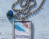 Inspirational JOURNEY Soldered Pendant Necklace