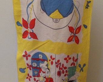 Vintage Yellow & Red Novelty Dish Towel