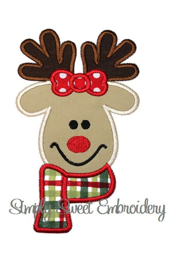 Girl Reindeer Applique Girl Reindeer Machine
