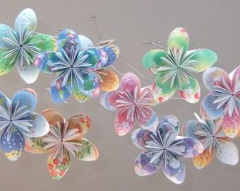 Floral Fantasy Origami Flower Mobile~Nursery Decor~Baby Mobile~Floral Nursery Decor~Paper Flower Mobile~Paper Flower Decor~Baby Shower Gift