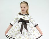 Dress for Girls, Pretty Little Birds All in a Row, Girl Dresses, Toddler Dress, Baby girl Dress, Flower Girl dress, Size 2T 3 4 5 6 7 8 9 10