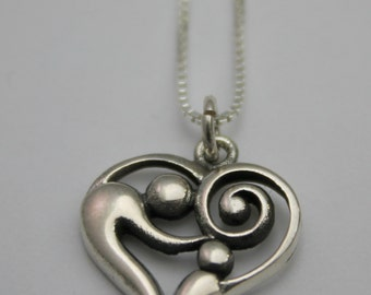 Mother and Child Sterling Silver Necklace-Small