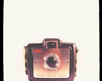 Retro Camera Photograph -  Brownie Bullet, Minimalist Wall Decor - The Bullet - Vintage Camera Home Decor, Wall Art, Color Photography