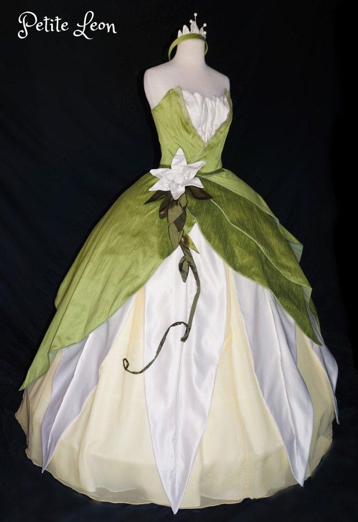 Princess tiana costume green ballgown dress custom by for Princess tiana wedding dress