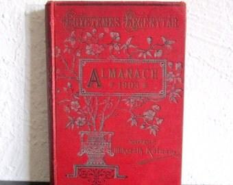 Almanach 1903 Egyetemes Regénytár Mikszáth Kálmán Budapest Singer és Wolfner
