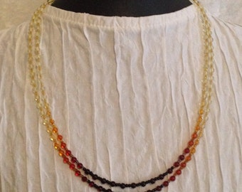 Graduated Baltic Amber Double Strand  Necklace