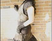 Steampunk Vest - Backless Vest - Sexy Top - Burning Man - Tribal Pixie Boho Vest - Belly Dance - Tweed - Bohemian - Size ONE SIZE
