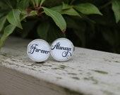 Always & Forever Groom Cufflinks Wedding Cufflinks Ready To ship Groom Gift Men Mens Personalized Wedding Gift For Him