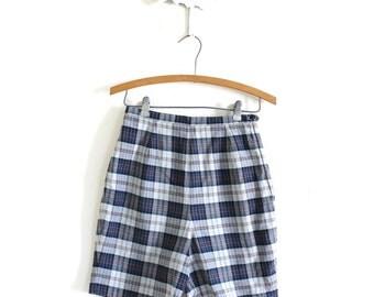 1960's Shorts / 60s 50s Shorts / 1950s Plaid Shorts
