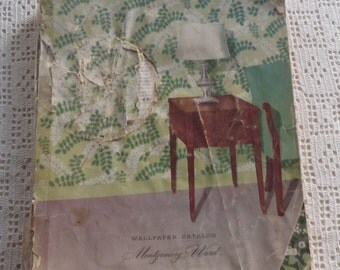 Vintage Wallpaper Sample Book Montgomery Ward