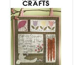 Sew & Make McCall's M5077 Sewing Pattern - Primitive Spring Time Wall Hanging Quilt Block