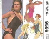 McCalls 9566 / Vintage Sewing Pattern / Swimsuit Bathing Suit / Size 14 Bust 36
