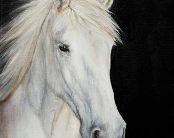 Custom PET / HORSE portrait from photo - Oil Painting 12x16 inches