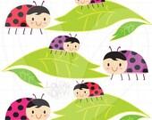 Lady Bugs Clip Art - Group Set - SKU : D13015