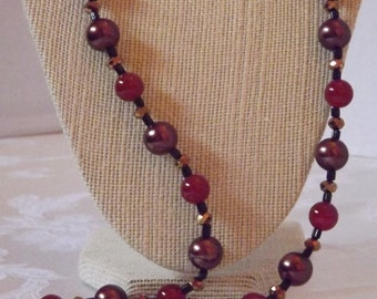 Pearl and Carnelian Necklace Set
