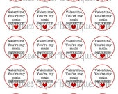 Round Valentine's Day Tags, You're My Main Squeeze, Valentine - Printables, Download