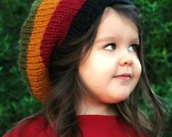 Knitting PATTERN-Baby Rasta Hat (Baby,Toddler,Child sizes)