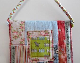 Cat Lover Boho Style Patchwork Handbag. Gadget Cover. Purse