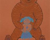 Momma Bear - Hand Pulled Screenprint