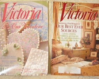 Victoria Magazine Two Issues of 1998 Good Housekeeping Valentine Scrapbook Embellishment
